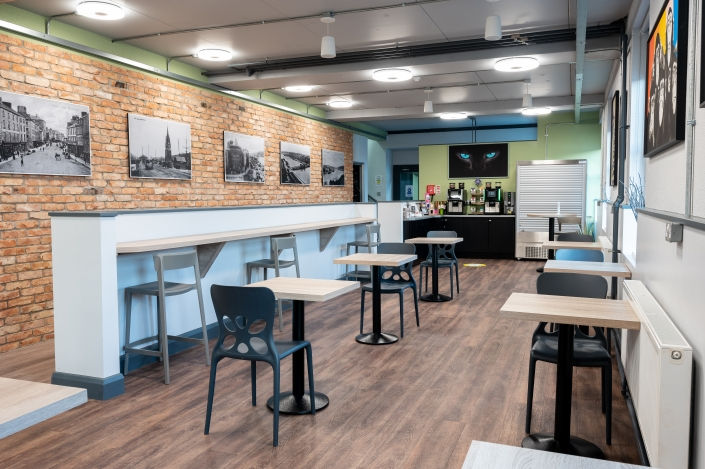 Access office space, meeting rooms and a cafe